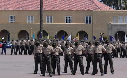 Marines Praying at Graduation Ceremony in MCRD, San Diego