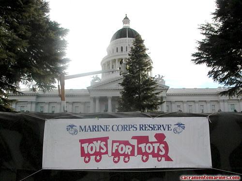 Toys For Tots Bike Run At The Sacramento Capital